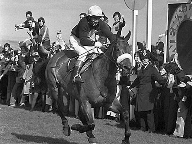 Red Rum with Brian Fletcher at the Grand National